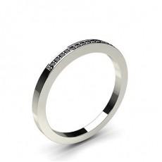 White Gold Black Diamond Women's Wedding Rings