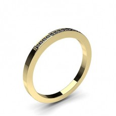 Yellow Gold Black Diamond Women's Wedding Rings