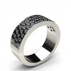 Round Black Diamond Women's Wedding Rings