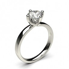 White Gold Solitaire Diamond Rings