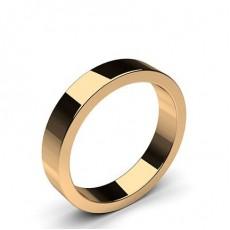 Men's Rose Gold Plain Wedding Rings