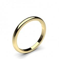 Women's Yellow Gold Plain Wedding Rings