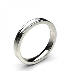 Women's Platinum Plain Wedding Rings