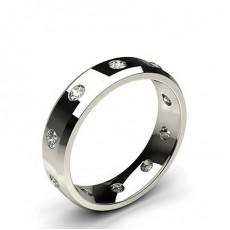 Klassischer bequem geschliffener Diamant Trauring mit geschrägten Kanten