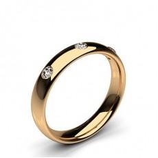 Men's Rose Gold Diamond Wedding Rings