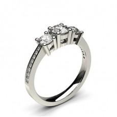 Weißgold Diamond Rings Three Stone