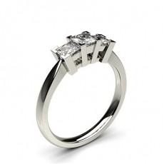 Prinzessin Diamond Rings Three Stone