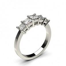 Princess 5 Stone Diamond Rings