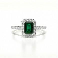 Smaragd Seitensteine Verlobungsringe