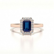 Rotgold Saphir Diamantringe