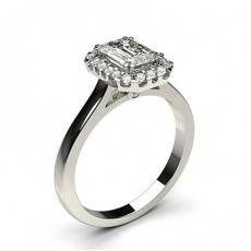 Emerald Cut Diamond Rings