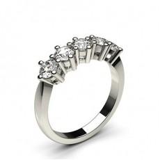 Round 5 Stone Diamond Rings