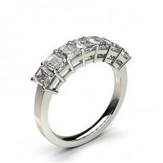 Emerald 7 Stone Diamond Rings