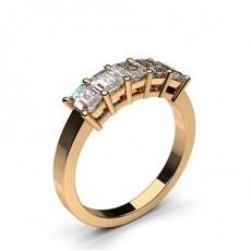 Rose Gold 5 Stone Diamond Rings