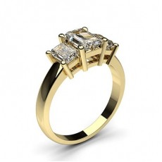 Gelbgold Diamond Rings Three Stone