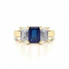 Gelbgold Edelstein-Diamantringe