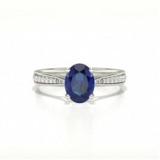 Oval Saphir Diamantringe
