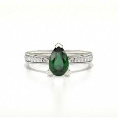 Tropfen Smaragd Diamantringe