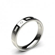 Gemischte Formen Diamant-Eheringe