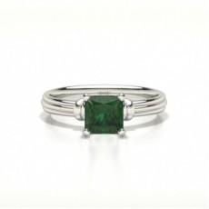 Princess Gemstone Diamond Rings