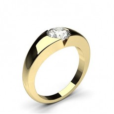 Flush Setting Plain Engagement Ring