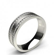Round Diamond Men's Contemporary Wedding Rings