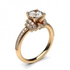 Bague Diamant Or Rose