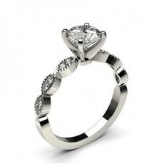 Brilliant Seitenstein Diamantringe