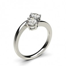 Round Two Stone Diamond Rings
