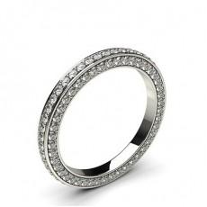 2.40mm Pave Setting Full Eternity Diamond Ring