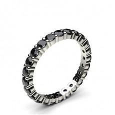 Round Black Diamond Rings