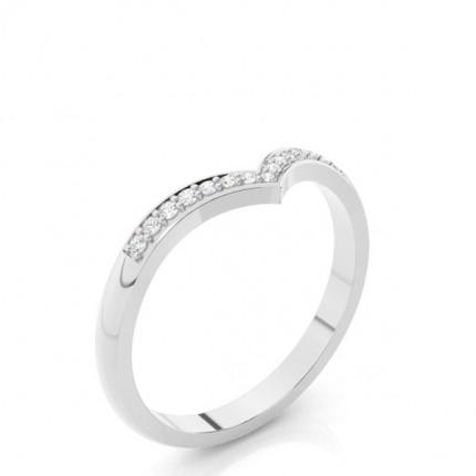 2.20mm Studded Flat Profile Diamond Shaped Band