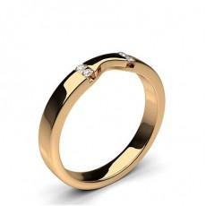 Rotgold Diamant-Eheringe
