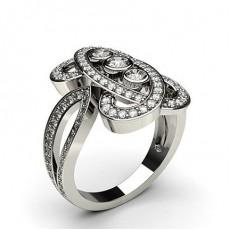 Round Statement Diamond Rings