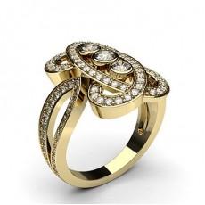 Gelbgold Moderne Diamantringe