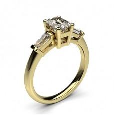 3 Diamant Ring einfach mit einer 4 Krappenfassung