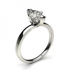 4 Krappen Schlichter Diamant Verlobungs Ring