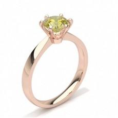 Rotgold Gelber Diamant Verlobungsringe