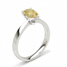 Prong Set Yellow Diamond Solitaire Engagement Ring