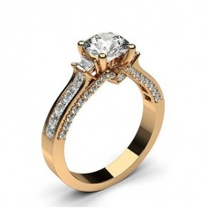 Rotgold Seitensteine Verlobungsringe