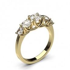 Yellow Gold 5 Stone Diamond Rings