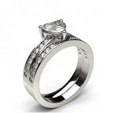 Herz Schulter Diamanten mit passendem Verlobungsringe