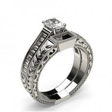 Oval Schulter Diamanten mit passendem Verlobungsringe