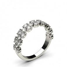 Round Diamond Half Eternity Rings
