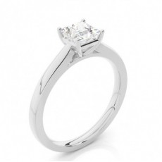 3 Krappen Schlichter Diamant Verlobungs Ring