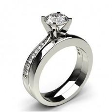 Brilliant Schulter Diamanten mit passendem Verlobungsringe