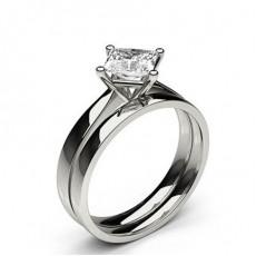 Weißgold Schulter Diamanten mit passendem Verlobungsringe