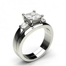 Prinzessin Schulter Diamanten mit passendem Verlobungsringe