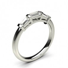 Platinum Three Stone Diamond Rings