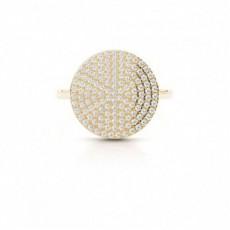 Yellow Gold Statement Diamond Rings